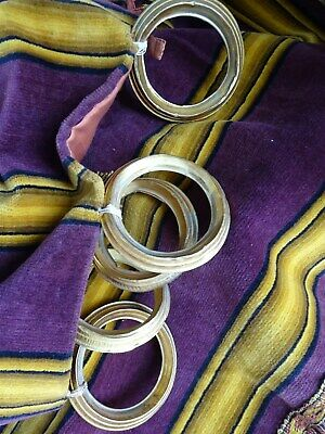 2 French antique  Hangings Silk velvet purple  And  Valance passementery