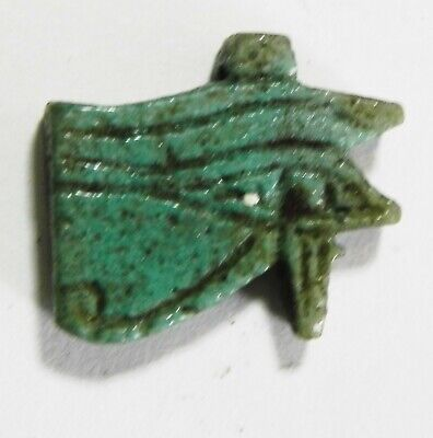 Zurqieh - As15370- Ancient Egypt. Faience Eye Of Horus Amulet. 600 - 300 B.c