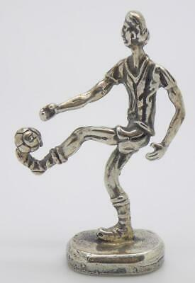 Vintage Solid Silver Italian Handmade Soccer Football Player Stamped Figurine