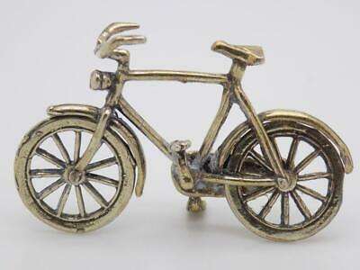 Vintage Solid Silver Italian Made Dollhouse Bicycle Miniature Stamped Figurine