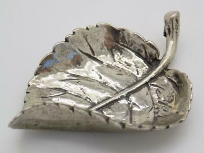 Vintage Solid Silver Italian Made REAL LIFE SIZE Leaf Stamped Figurine
