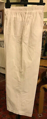 M&S Size 16 Ladies White Cotton Bowling Trousers Length Short