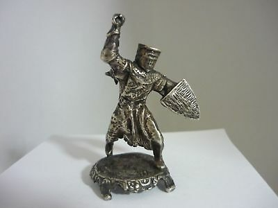 Stunning Rare Vintage Sterling Silver Medieval Knight Figurine Statue