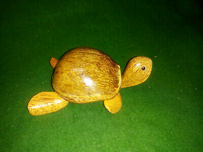 Hand Crafted Turtle/ Tortoise with Coconut Shell `shell` Ashtray / trinket box