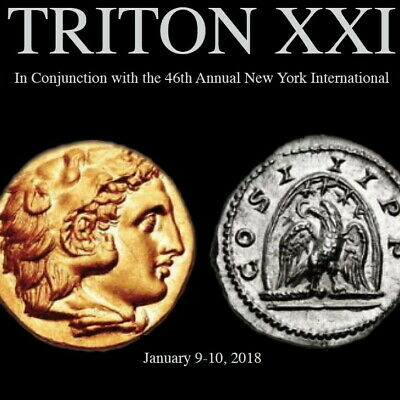 CNG TRITON XXI Ancient Greek Roman Byzantine.Coin Auction Catalog January 9 2018