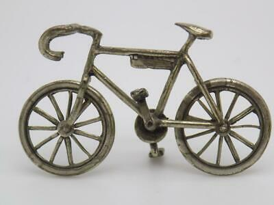 Vintage Solid Silver Italian Made Dollhouse Sport Bicycle Hallmarked Miniature