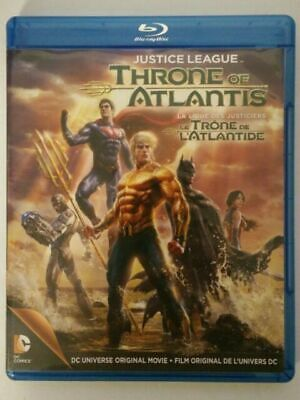Justice League Throne of Atlantis (Bluray, DVD) w/ Embossed Slipcover
