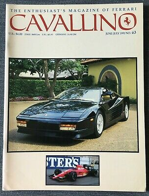 Ferrari Cavallino Magazine Issue # June/July 1991 No.63