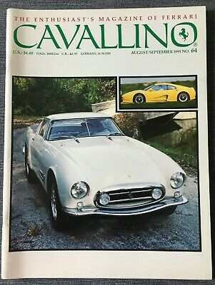 Ferrari Cavallino Magazine Issue # August/September 1991 No.64