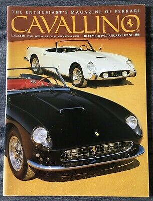 Ferrari Cavallino Magazine Issue # December 1991 / January 1992 No.66