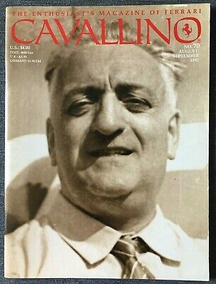 Ferrari Cavallino Magazine Issue # August/September 1992 No.70