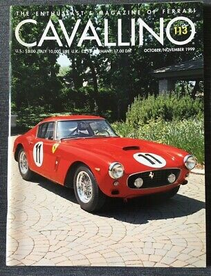 Ferrari Cavallino Magazine Issue # October/November 1999 No.113