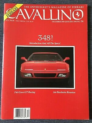 Ferrari Cavallino Magazine Issue # December 1989 / January 1990 No.54