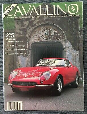 Ferrari Cavallino Magazine Issue # December 1988 /January 1989 No.48