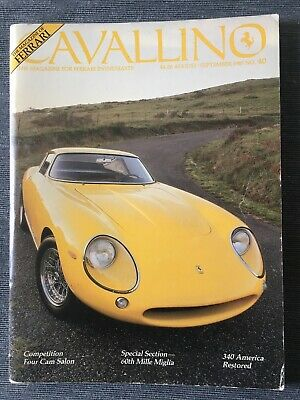 Ferrari Cavallino Magazine Issue # August/September 1987 No.40