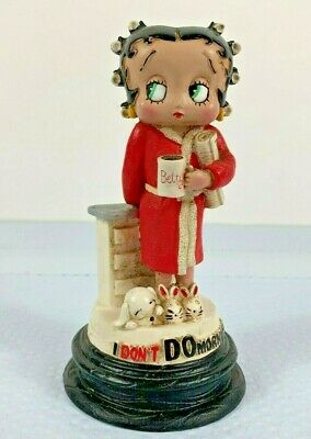 Betty Boop - I DON'T DO MORNINGS - Resin Figurine - 2007 Croce Collection