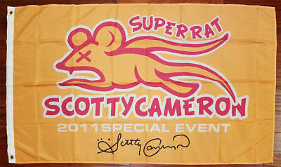 Scotty Cameron Super Rat 2011 Special Event Flag Banner Golf Promotional RARE