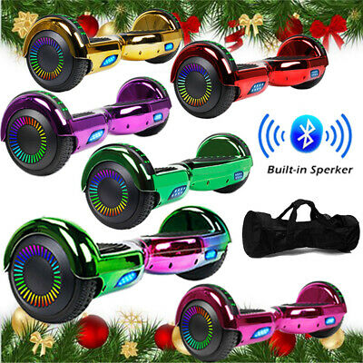 6.5'' Bluetooth Hoverboard Chrome Electric Self Balancing Scooter UL2272 LED Bag