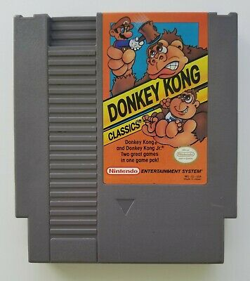 Donkey Kong Classics Nintendo Entertainment System 1988 Cartridge Only  Tested a