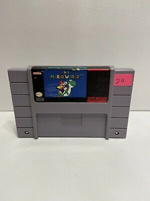 Super Mario World Super Nintendo SNES Video Game Tested And Working Authentic