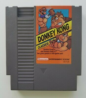 Donkey Kong Classics Nintendo Entertainment System 1988 Cartridge Only Tested b
