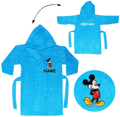"Frottee Bademantel - "" Disney Mickey Mouse "" - incl. Name - 2 bis 8 Jahre / Gr."