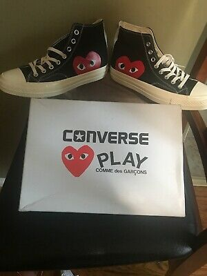 Converse Chuck Taylor All-Star 70s Hi Comme des Garcons PLAY Black Size 8 Mens