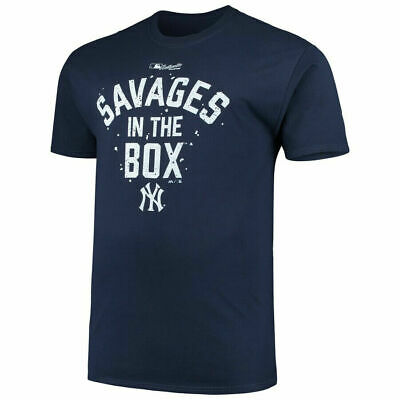 New York Yankees Majestic Navy Savages in the Box T-Shirt Best Gift For Birthday
