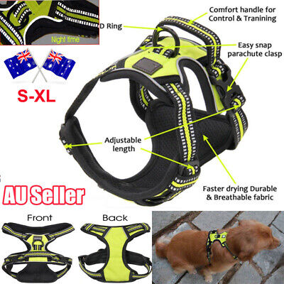 No-pull Dog Pet Harness Reflective Outdoor Safety Vest Jacket Padded Handle 3M