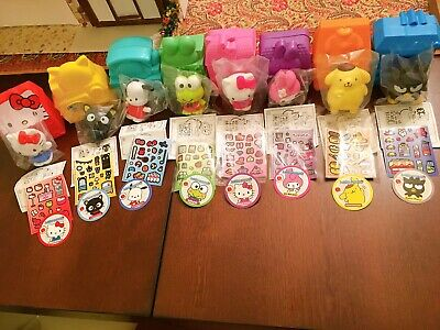 Lot of 8 Sanrio Hello Kitty McDonalds Cake Topper Happy Meal Toy Complete 2016