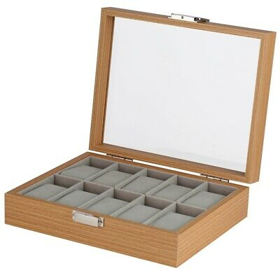 High Quality Wooden Watch Case 1/2/6/10/12 Grids Storage Box Holder Display