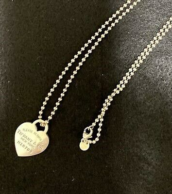Tiffany & Co. Return To Heart Sterling Silver 925 Pendant Charm Beads Necklace