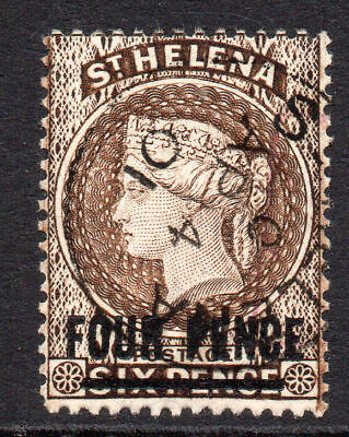 St Helena 4 Pence Stamp c1884-94 Used SG43