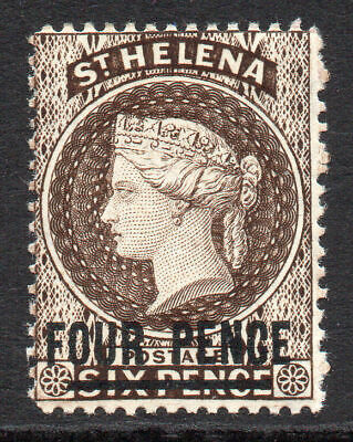 St Helena 4 Pence Stamp c1884-94 Mounted Mint SG43