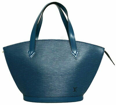 Authentic Louis Vuitton Sunjack Handbag Tote Bag Epi Blue Toledo Blue M52275