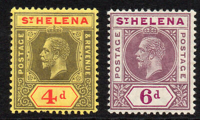 St Helena Set of 2 Stamps c1913 Mounted Mint SG85 & 86