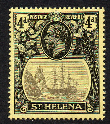 St Helena 4d Stamp c1922-37 Mounted Mint SG92