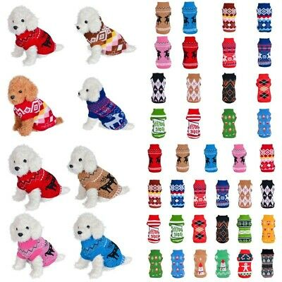 Winter Dog Xmas Clothes Puppy Pet Sweater Jacket Coat For Small Dogs Chihuahua