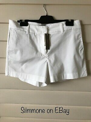 New With Tags! J.CREW WHITE SHORTS - GREAT STYLE - WERE $68 - Size M
