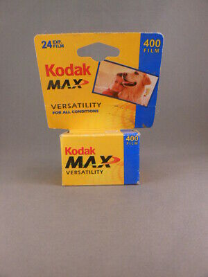 New Kodak Max Versatility 400 Film 24 Exposures 35mm Color 1 Roll Exp 10/2004