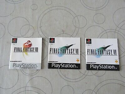 Lot De 3 Notice Final Fantasy Ps1 Playstation