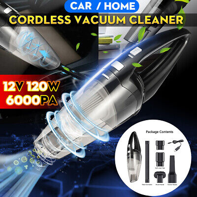 6KPa 120W Vacuum Cleaner Car Wet & Dry Cordless Handheld Rechargeable Home