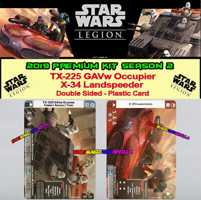 STAR WARS LEGION - 2019 PREMIUM KIT SEASON 2 - TX-225 GAVw / X-34 Landspeeder