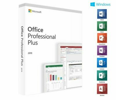 Microsoft Office 2019 ⭐  Professional Plus License Key Lifetime Fast Delivery ⭐
