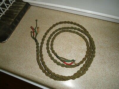 Green vintage telephone cord cotton covered PMG   NOS