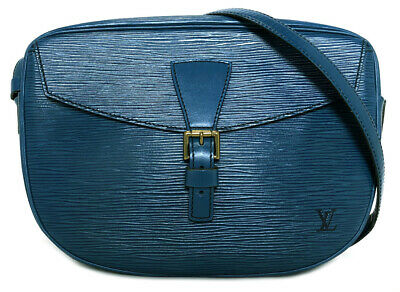 Authentic LOUIS VUITTON Jonufiyu shoulder bag M52155 epi Toledo Blue Women