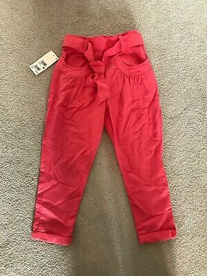Girls NEXT Tapered Trousers Age 5 BNWT RRP £12 With Belt