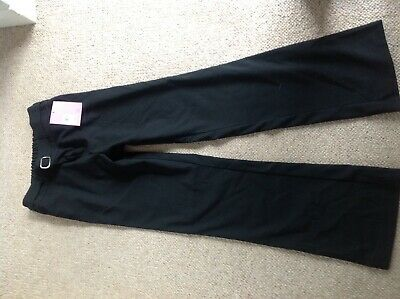 New girls black school trousers age 13 from John Lewis elasticated waist