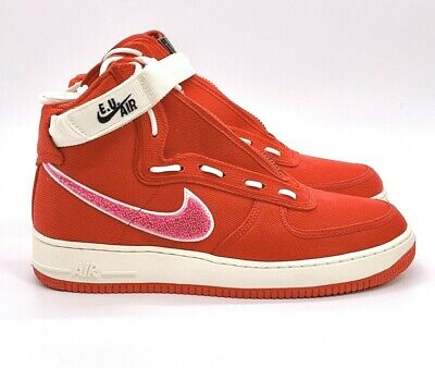 NIKE AIR FORCE 1 SS GS AF1 Silt Red Pink White Kid Youth