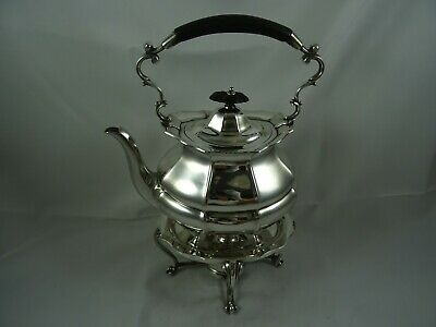 STUNNING solid silver KETTLE ON STAND, 1920, 1262gm